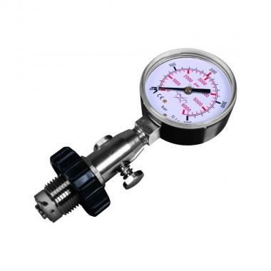 Cylinder pressure testing gauge, DIN, up to 300 bar